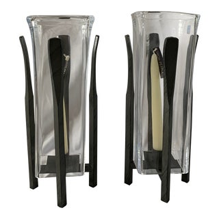 Simon Pearce Woodbury Lanterns - Pair For Sale