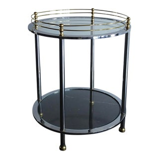 Vintage Deco Chrome and Brass Accent Table For Sale