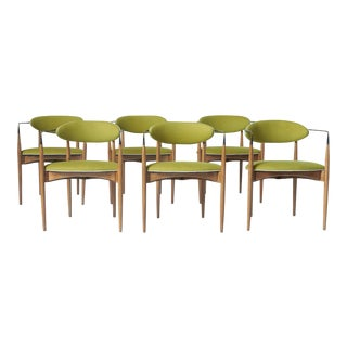 Dan Johnson Set of Six Viscount Chairs For Sale