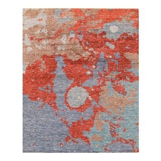 "Apadana - Contemporary Abstract Painterly Indian Carpet, 8' x 10'1"" For Sale"
