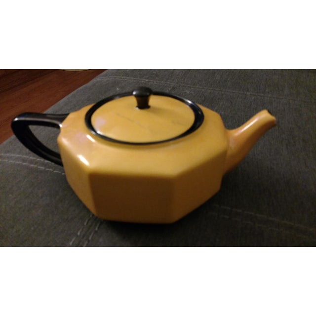 Country 1957 Antique Steubenville China Teapot For Sale - Image 3 of 5