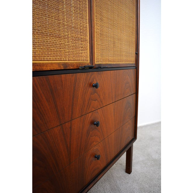 Mid-Century Modern Mid Century Jack Cartwright for Founder's Furniture Walnut Armoire For Sale - Image 3 of 13