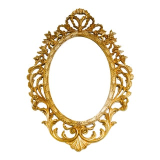 Louis XIV Louis XVI French Rococo Hand-Carved Gold Mirror For Sale