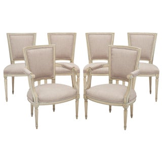Set of Louis XVI Style Chairs With Armchairs For Sale