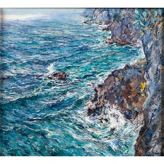 Isle of Capri Oil Painting by Matteo Sarno For Sale
