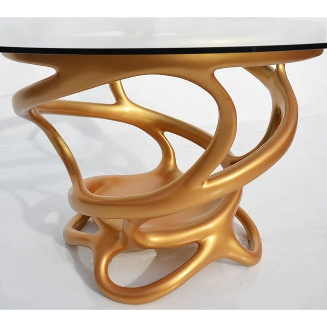 Freeform Gilded Entry or Occasional Table - Image 3 of 5