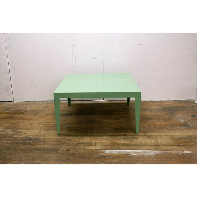 1950s Mint Green Mid-Century Powder Coated Steel Coffee Table For Sale - Image 13 of 13