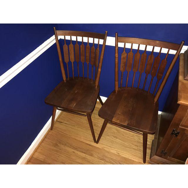 Mid-Century Modern Drexel Declaration Kipp Stewart Dining Chairs - Set of 6 For Sale - Image 3 of 7