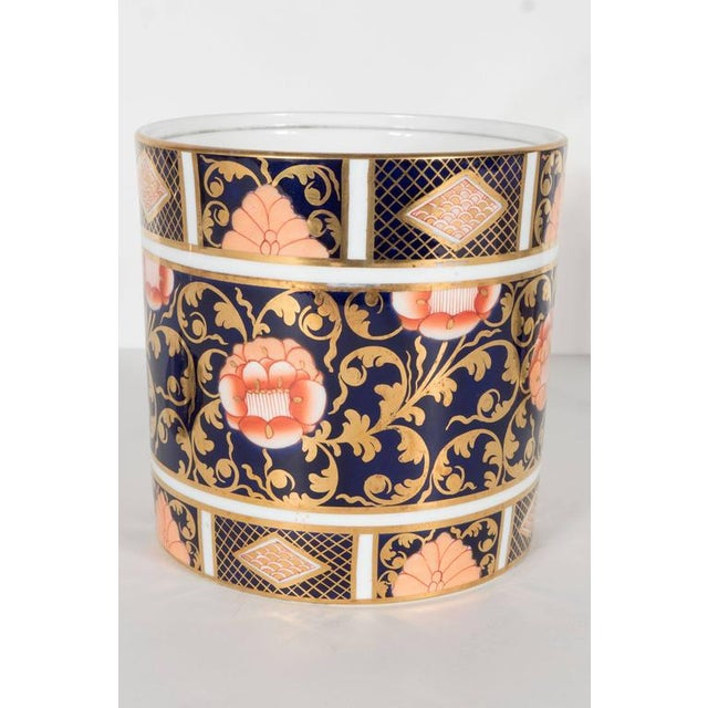 Antique English Biscuit Holder in Porcelain and Silver Plate by Spode For Sale - Image 9 of 11