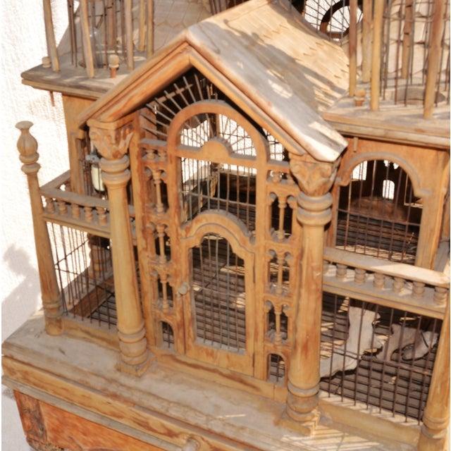 Victorian Wooden Bird Cage Palace On Floor Stand Chairish
