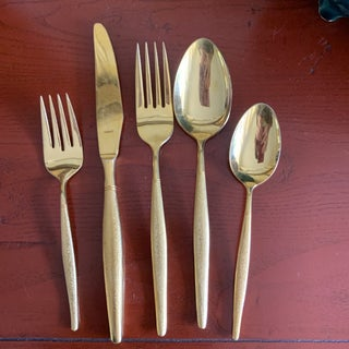 Midcentury Japan, Gold Stainless Flatware Set of 100 Preview