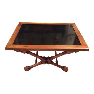 Vintage Isiah Jefferson Nautical Wood and Slate Table For Sale