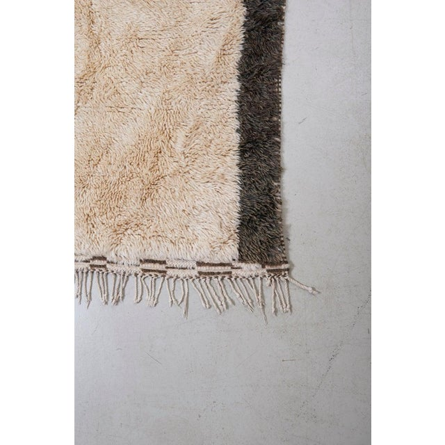 Beni Ourain Carpet From the Atlas Mountains of Morocco, 1950s For Sale - Image 4 of 5
