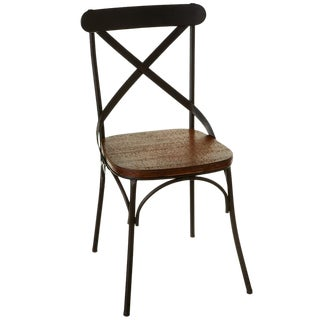Farmhouse Wood & Iron Dining Chair