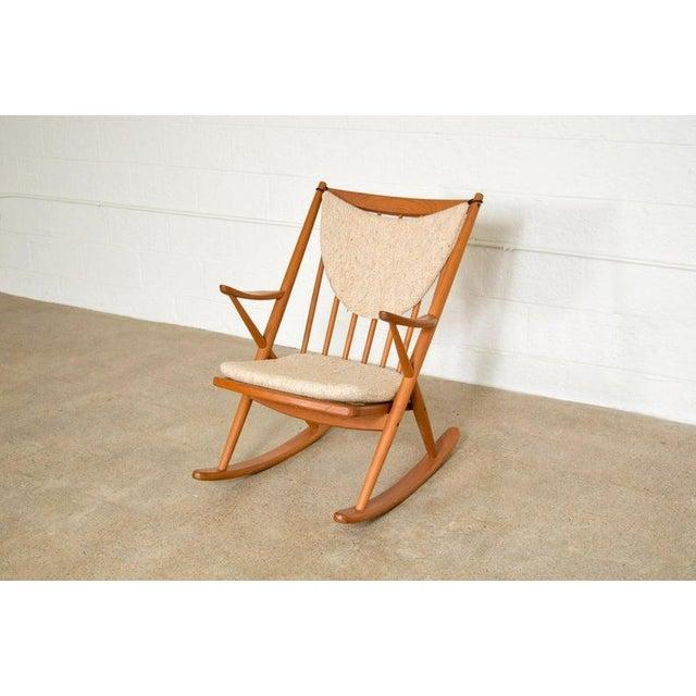 Vintage Mid Century Danish Modern Frank Reenskaug for Bramin Teak Wood Rocker Rocking Chair, 1960s For Sale - Image 11 of 11