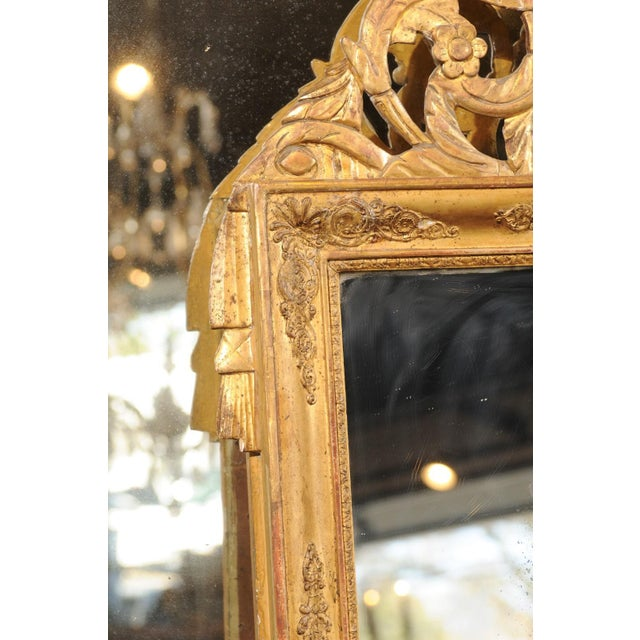 French Louis XV Style Giltwood Mirror with Hand Carved Liberal Arts Symbols For Sale In Atlanta - Image 6 of 10