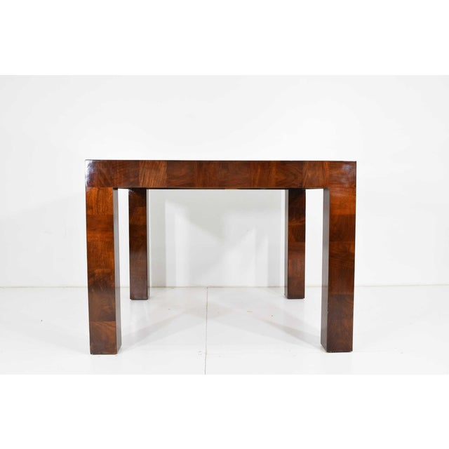 Milo Baughman Burl Wood Parquet Card or Dining Table For Sale - Image 13 of 13