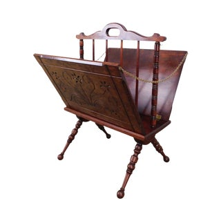 Victorian Eastlake Antique Magazine Stand For Sale
