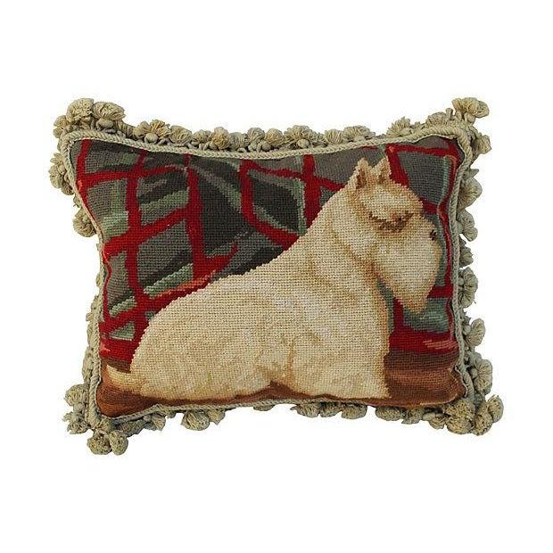 Aubusson Scotty Dog Tassel Pillow - Image 1 of 4