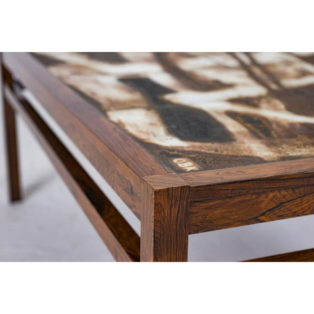 Black Danish Abstract Tile Coffee Table For Sale - Image 8 of 10