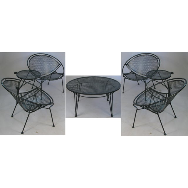 1950s Salterini Radar Tete a Tetes and Cocktail Table- 3 Pieces For Sale - Image 9 of 9