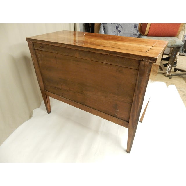 Late 19th Century Late 19th C Italian Walnut Louis XVI Commode For Sale - Image 5 of 7