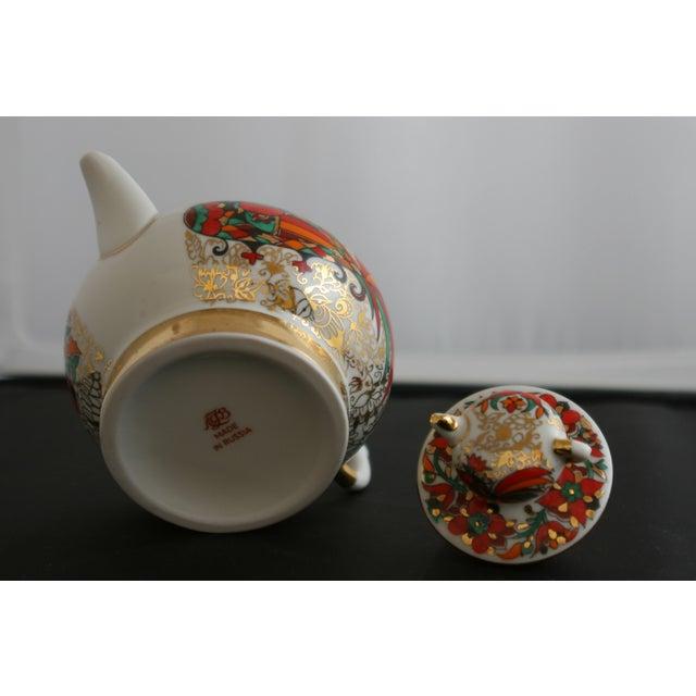 Russian Lomonsov Porcelain Rooster Teapot For Sale - Image 7 of 7
