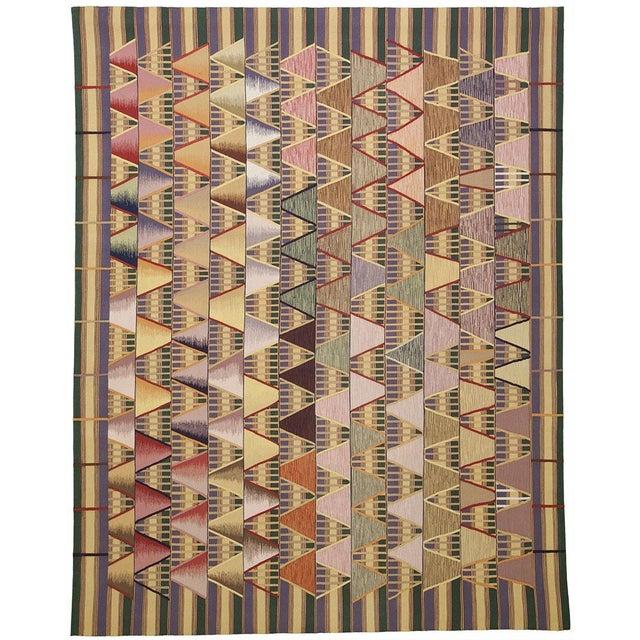 Geometric Art Deco Rug - 8′ × 10′ For Sale