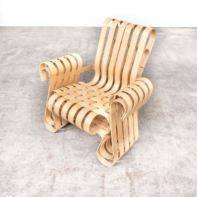 Knoll 1990s Vintage Frank Gehry for Knoll International Power Play Chair For Sale - Image 4 of 8