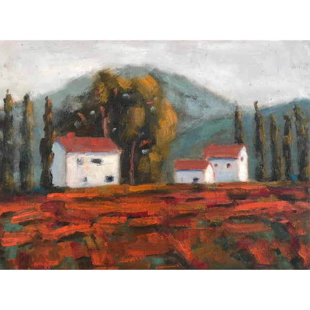 "Canvas ""Fall Vines"" Plein Air Oil Painting For Sale - Image 7 of 7"