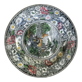 Vintage English Transferware Plate by w.r. Midwinter Ltd. For Sale