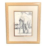 Image of 1970's Caroline Schultz Kilimanjaro Elephant Lithograph, Framed and Numbered For Sale