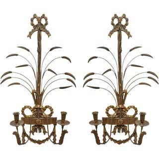 19th Century Vintage Palladio Sconces - a Pair For Sale