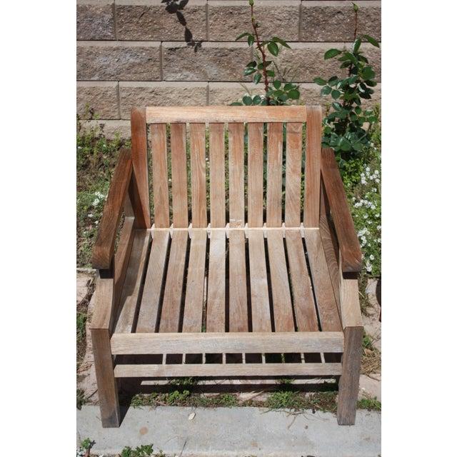 Teak Wood Patio Set - 8 Piece Set - Image 6 of 8