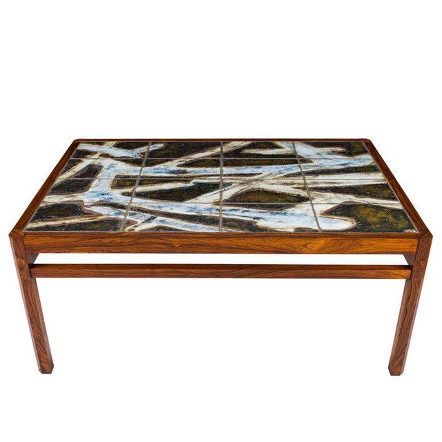 Danish Abstract Tile Coffee Table - Image 4 of 10
