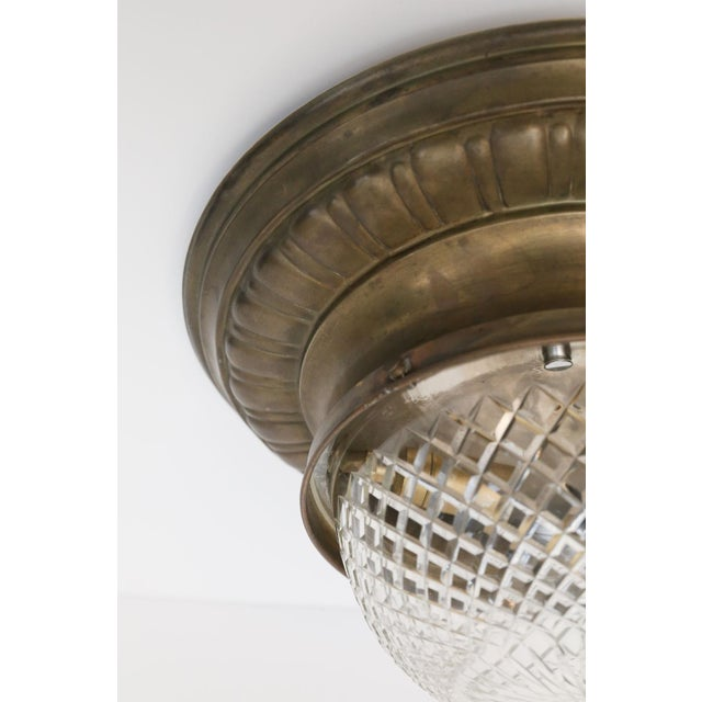 Late 19th Century Repousse Flush Mount Light For Sale - Image 5 of 11