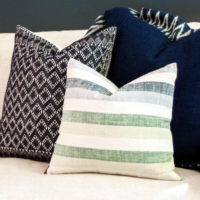 San Cristobal Brocade Pillow - Navy - Image 2 of 5
