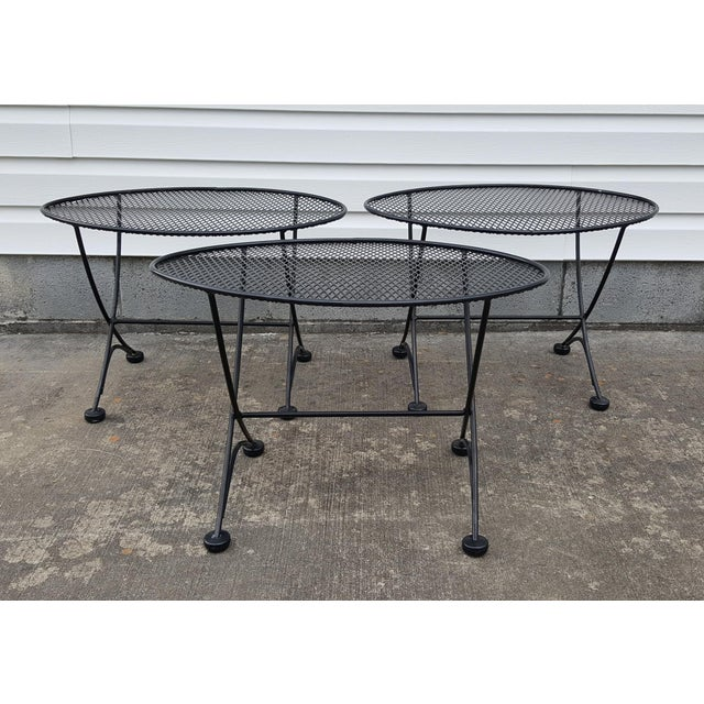 I currently have 3 John Salterini (Maurizio Tempestini) mid century oval eye shaped patio side tables. All are...
