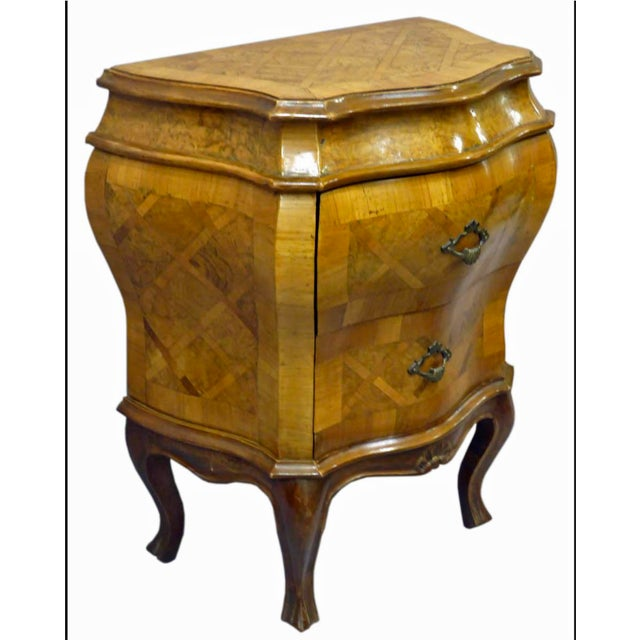 Early 20th Century 20th Century Italian 2 Drawer Bombe Commode For Sale - Image 5 of 5