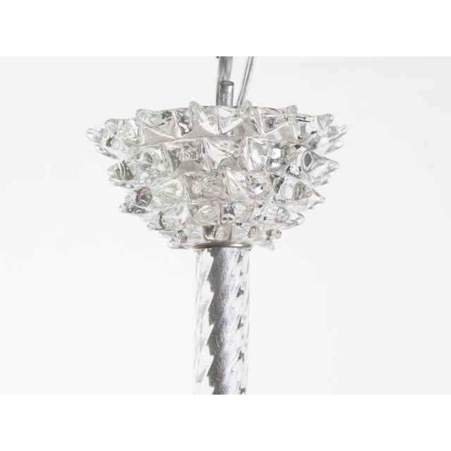 Murano Glass Chandelier by Ercole Barovier For Sale - Image 9 of 11