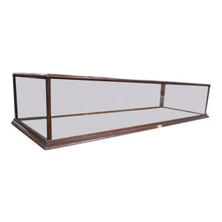 Antique Counter Top Glass & Oak Mercantile Display Case For Sale