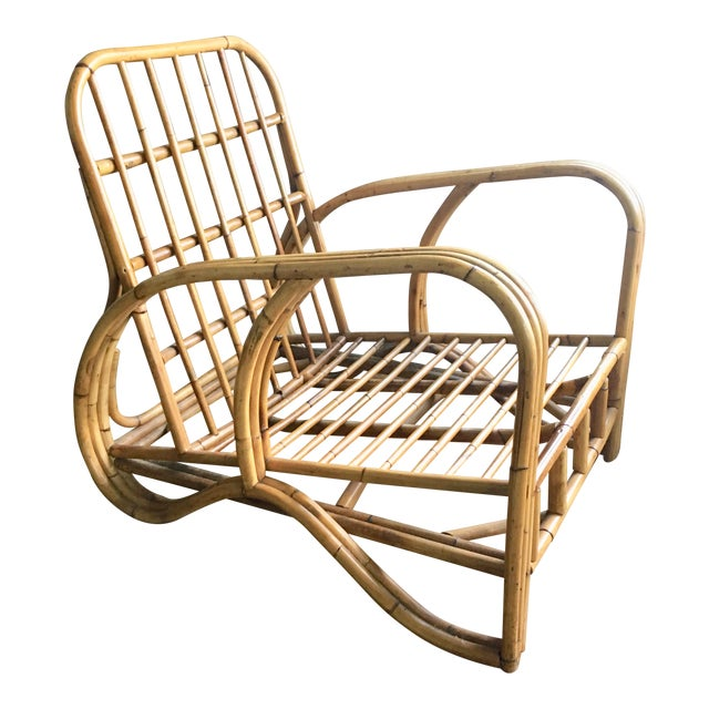 Mid-Century Modern Bamboo Club Chair - Image 1 of 10