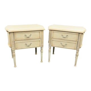 French Style Cream Nightstands - a Pair
