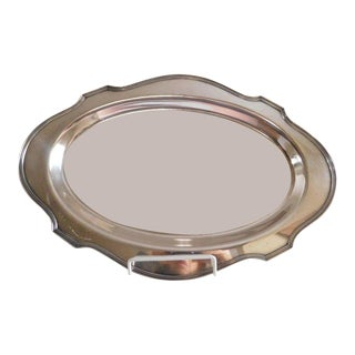 e.g Webster & Sons Antique Silver Serving Tray For Sale