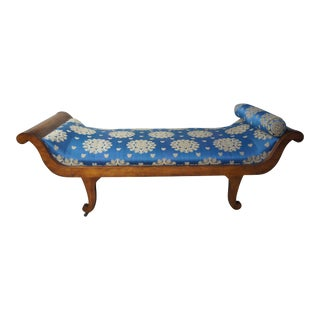 Darryl Carter Garden & Guns G&g Sleigh Daybed With Scalamandre Fabric For Sale