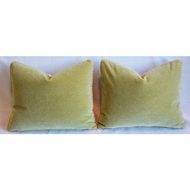 """Clarence House Fabric and Scalamandre Mohair Feather/Down Pillows 23"""" X 19"""" - Pair For Sale - Image 10 of 13"""