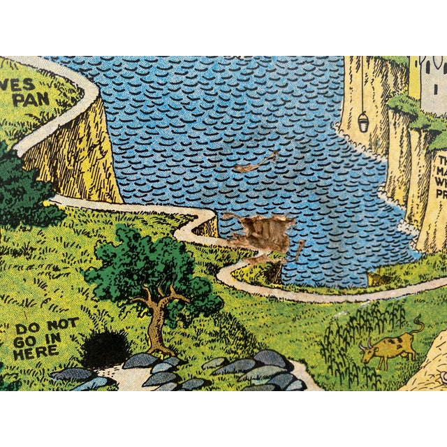 """1930 """"The Land of Make Believe"""" Landscape First Edition Print by Jaro Hess, Framed For Sale In Los Angeles - Image 6 of 8"""
