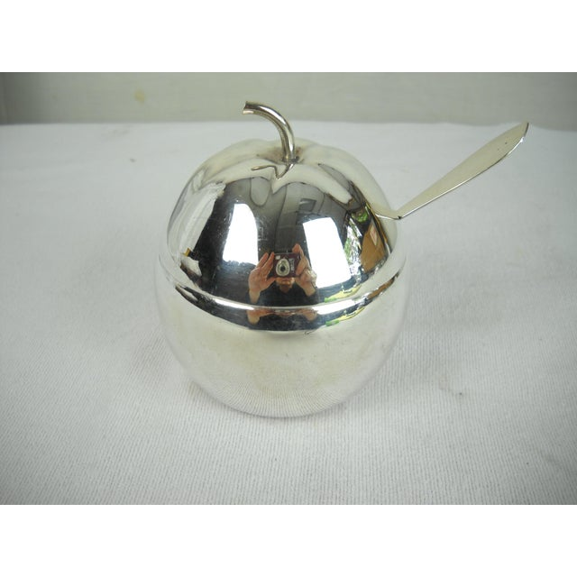Delightful silverplate marmalade server in the shape of an orange. Server features an interior glass liner and sterling...