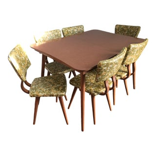 Vintage Mid Century Modern 7 Piece Dining Set For Sale