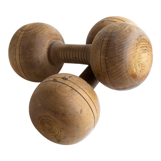 20th Century Americana Wooden Weights - a Pair For Sale